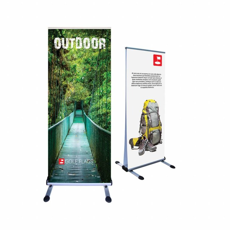 Roll-up Outdoor 85 double-sided