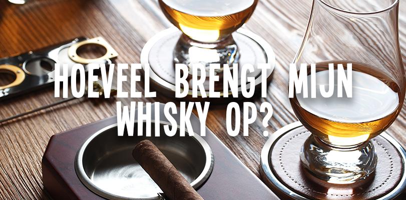 Hoeveel brengt mijn whisky op?