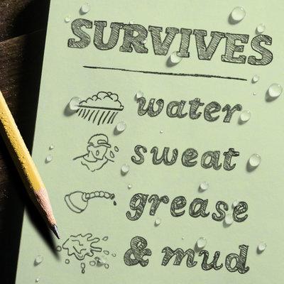 "Rite in the Rain Rite in the Rain notebook 4 5/8"" x 7"" groen, 3 stuks, 971FX"