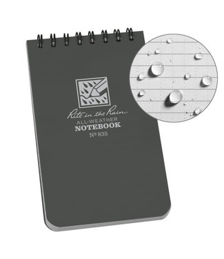 Rite in the Rain 3 x 5 Top Spiral Notebook 835 Gray Grijs
