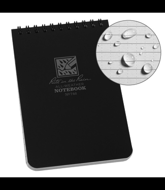 Rite in the Rain 4 x 6 Top Spiral Notebook 746 Black