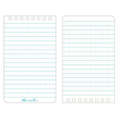 Rite in the Rain 3 x 5 Top Spiral Notebook 435 Blue