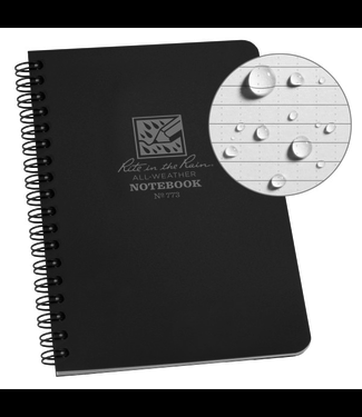 Rite in the Rain Side Spiral Notebook  Black 773