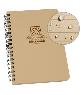 Rite in the Rain Side Spiral Notebook  Tan 973T