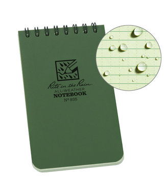 Rite in the Rain 3 x 5 Top Spiral Notebook 935 Green