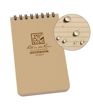 Rite in the Rain 3 x 5 Top Spiral Notebook 935T Tan