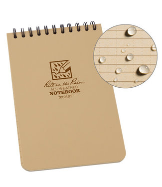 Rite in the Rain 4 x 6 Top Spiral Notebook 946T Tan