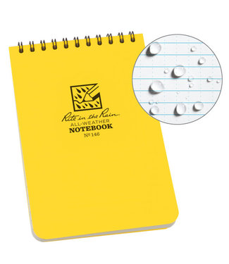 Rite in the Rain 4 x 6 Top Spiral Notebook 146 Yellow