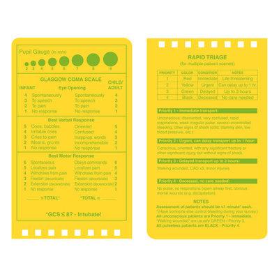 """Rite in the Rain EMS Notebook, 3"""" x 5"""", Yellow Cover, Vital Stats Pages (No. 112)"""