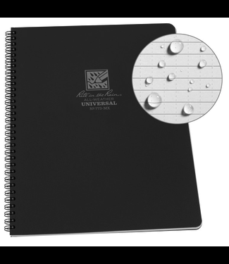 "Rite in the Rain Maxi Side-Spiral Notebook, 8.5"" x 11"", Black Cover (773-MX)"