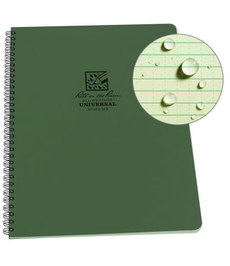 "Rite in the Rain Maxi Side-Spiral Notebook, 8.5"" x 11"", Green Cover (973-MX)"