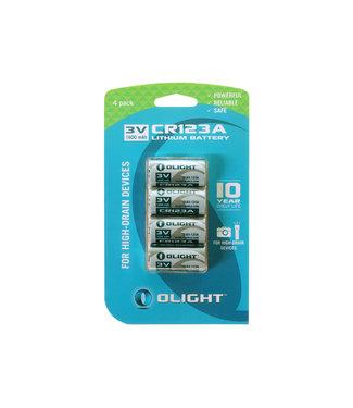 Olight CR123A Lithium battery 3V 1600mAh 4 pack