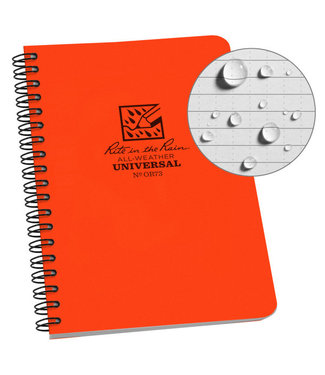Rite in the Rain Side Spiral Notebook Blaze Orange OR73