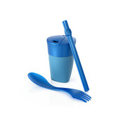 Light My Fire of Sweden ReKit (Spork, Cup & Rietje) Blauw