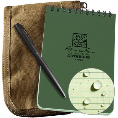 Rite in the Rain 3 x 5 Kit Green Book/Tan Cover/ Black Pen (935-KIT)