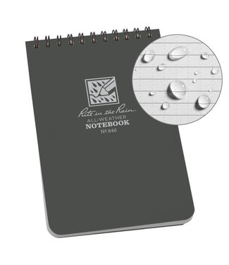 Rite in the Rain 4 x 6 Top Spiral Notebook 846 Gray
