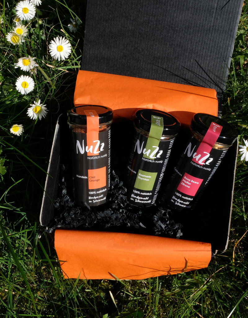 Gift box with three types of NuZz