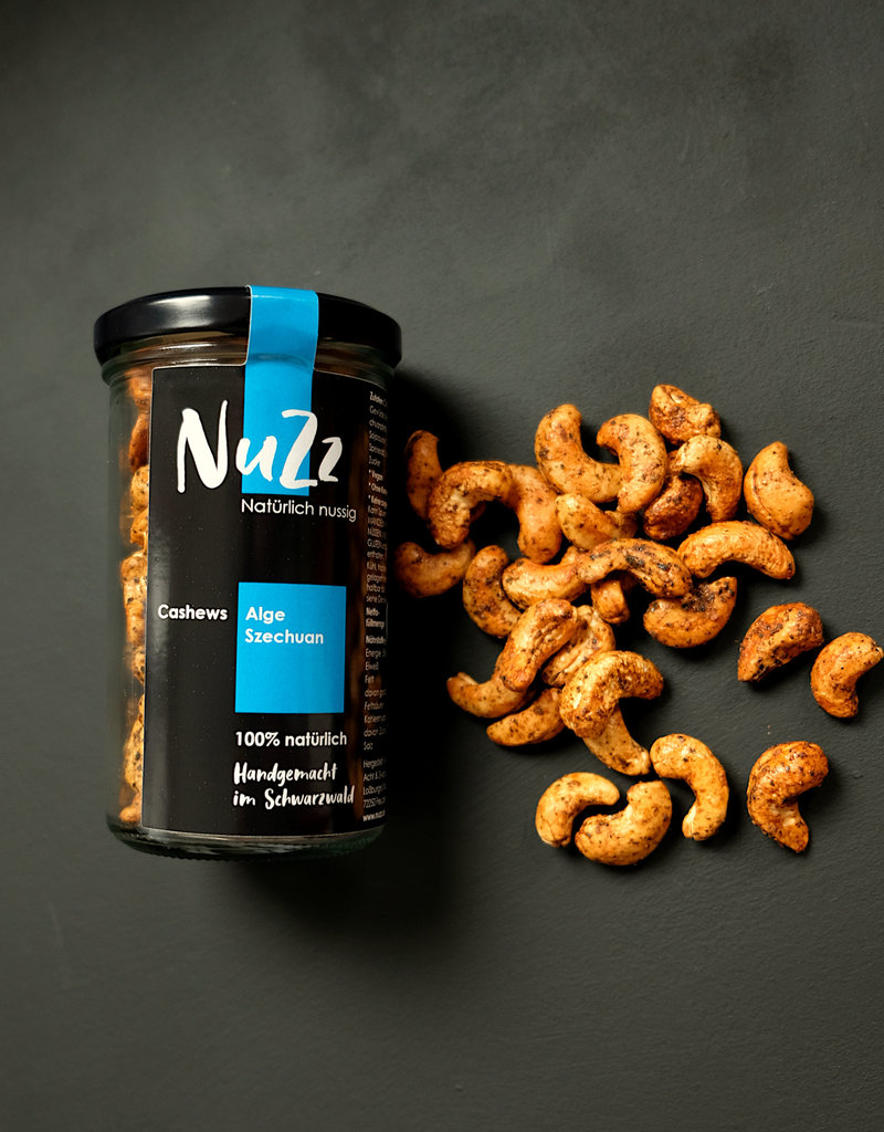 NuZz Oven-roasted cashews with Seaweed, Szechuan Pepper and Soja Sauce