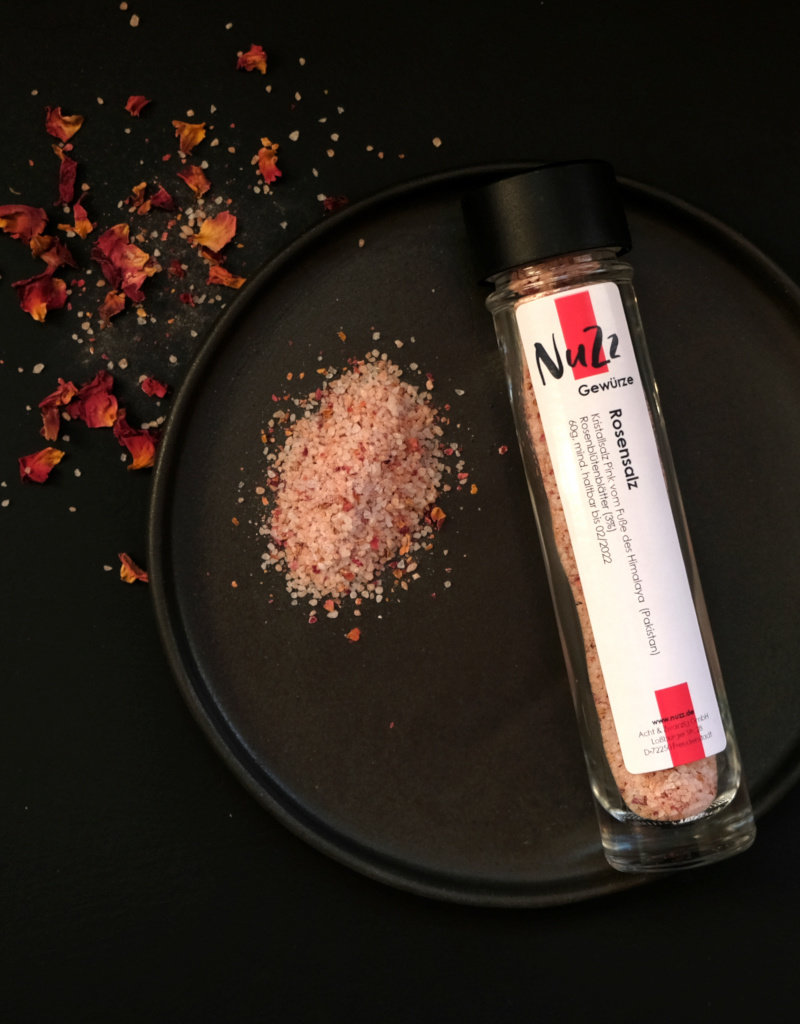 NuZz Natural pink salt with rose flowers