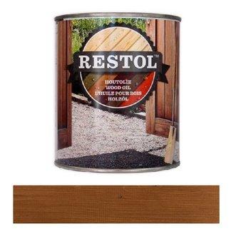 Restol Houtolie Mat Bruin