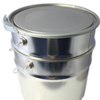 Hildering Leeg blik 5 liter Conisch met deksel en ring