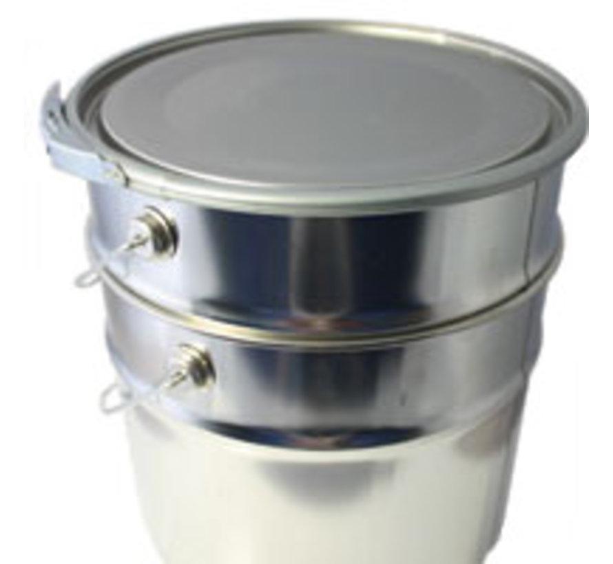 Leeg blik 5 liter Conisch met deksel en ring