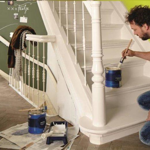 Hoe schildert u een trap