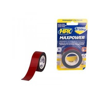 HPX Max Power Outdoor Bevestigingstape Zwart 25mm x 1,5mtr