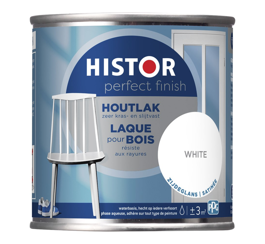 Perfect Finish Houtlak Zijdeglans Wit