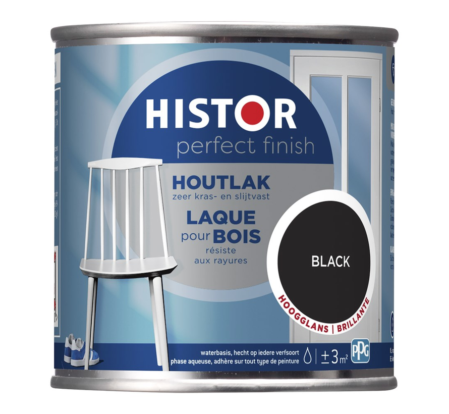 Perfect Finish Houtlak Hoogglans Zwart