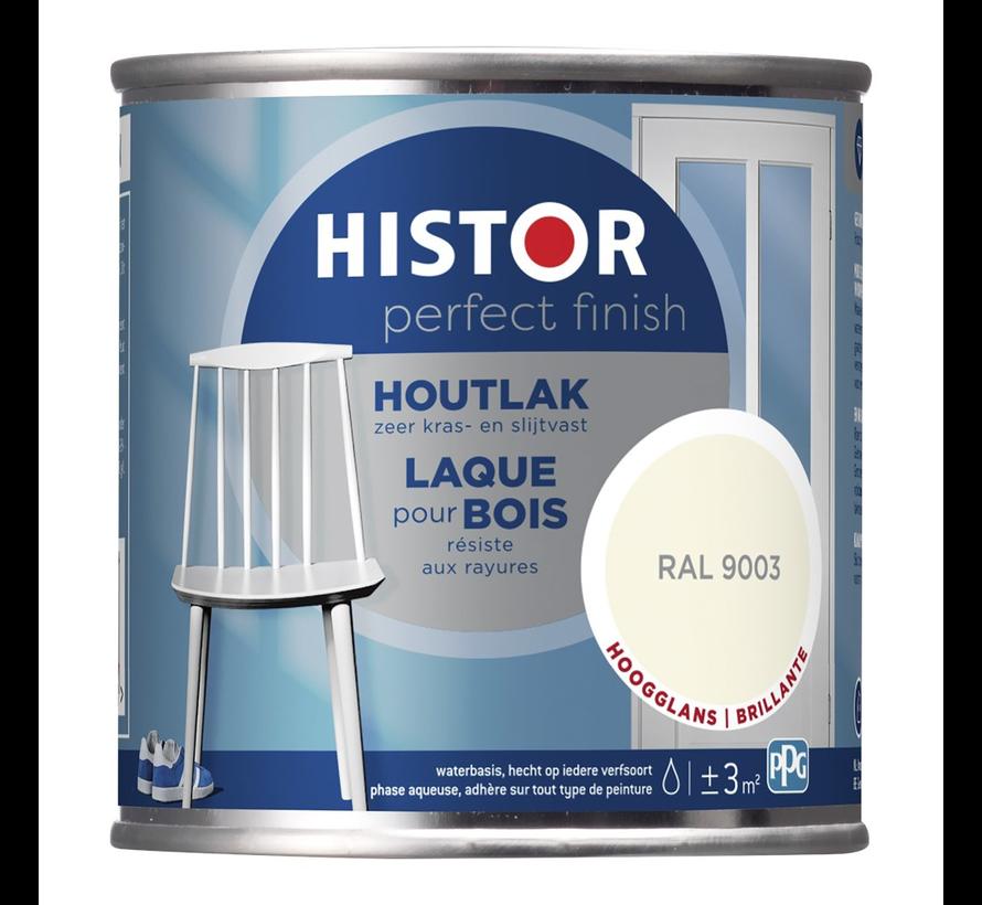 Perfect Finish Houtlak Hoogglans RAL9003