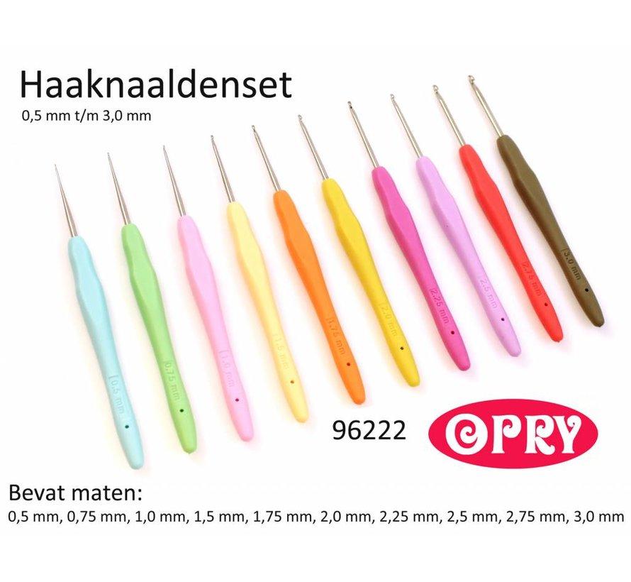 Opry Softgrip haaknaalden set 0.5 - 3.0mm