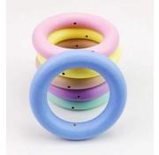 Houten ring 70mm gekleurd