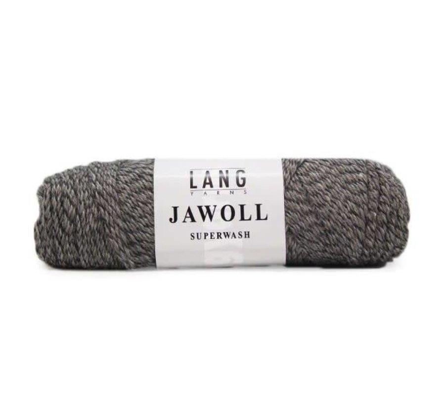 Lang Yarns Jawoll 124 Grijs/bruin mouliné