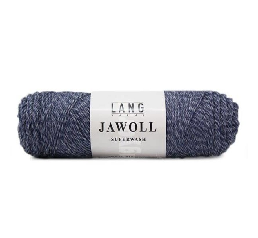 Lang Yarns Jawoll 258 Jeansblauw mouliné