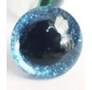 Huismerk Veiligheidsoogjes Glitter Blauw