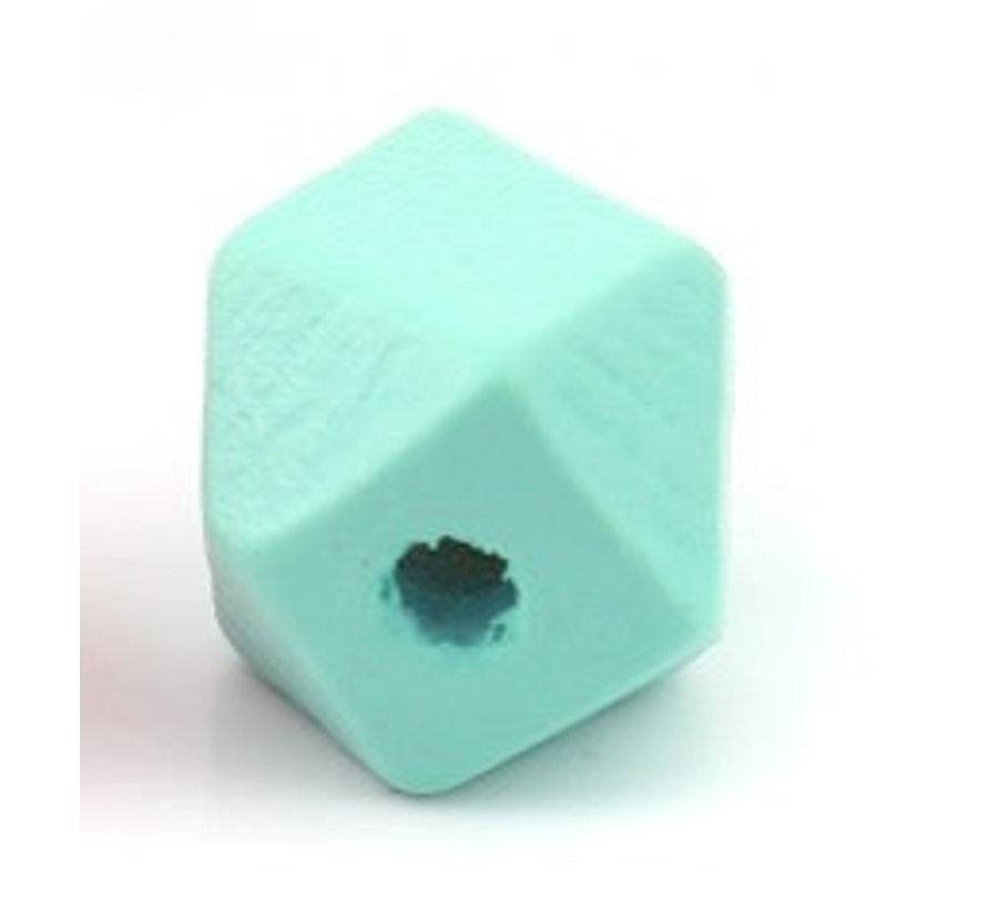 Houten Facetkralen gekleurd 20mm