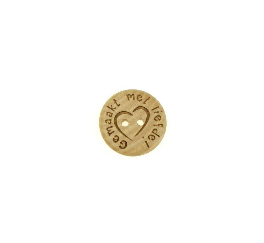 Knoop gemaakt met liefde 20mm
