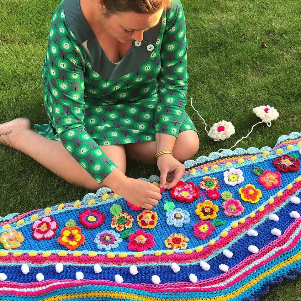 Workshop Omslagdoek Of Tas Haken Met Pollevie Marlaine Creatieve