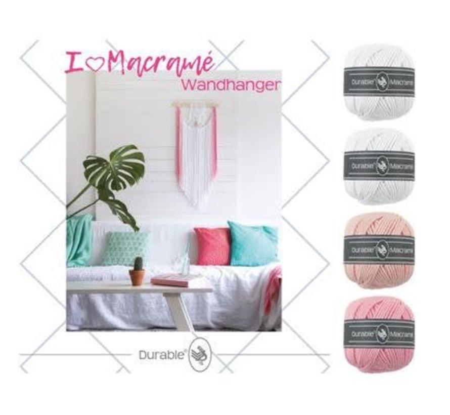 Macramé Pakket I love Wandhanger