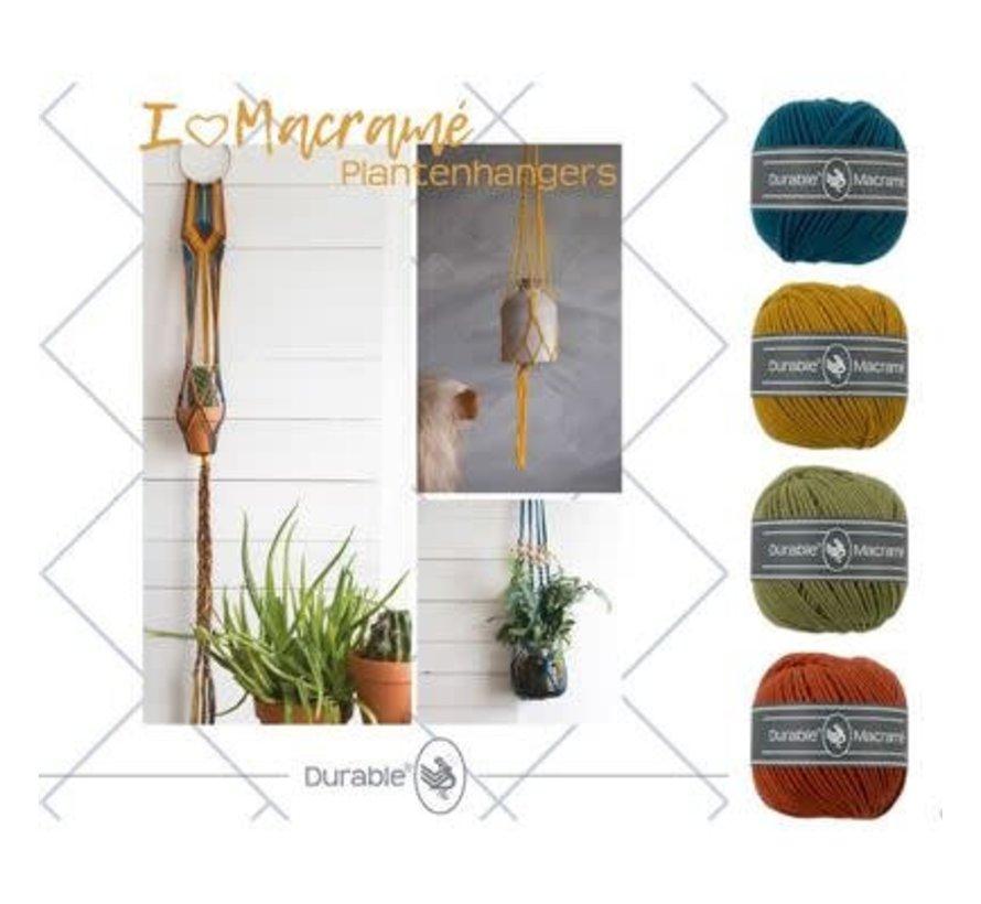 Macramé Pakket I love Plantenhanger