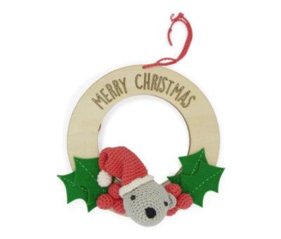 Hardicraft Hardicraft Haakpakket Kerstkrans met beertje