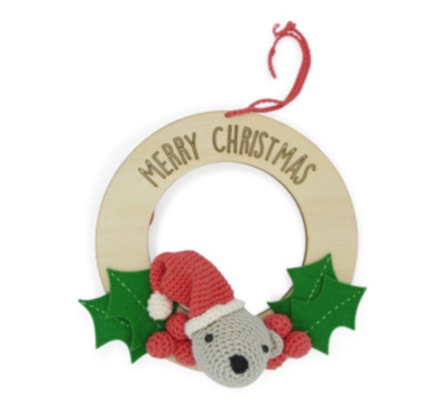 Hardicraft Haakpakket Kerstkrans met beertje