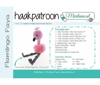 Marlaine Haakpatroon Flamingo Faya Boekje