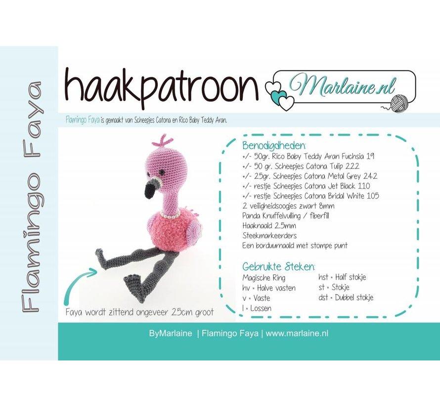 Haakpatroon Flamingo Faya Boekje