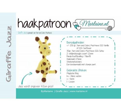 Marlaine Haakpatroon Giraffe Jazz Boekje