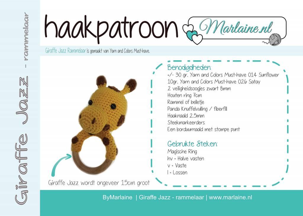 Marlaine Patroonboekje Giraffe Jazz Rammelaar Marlaine Creatieve