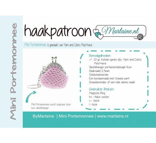 Marlaine Patroonboekje Mini Portemonnee sleutelhanger A6
