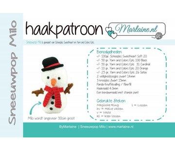 Marlaine Haakpatroon Sneeuwpop Milo Boekje