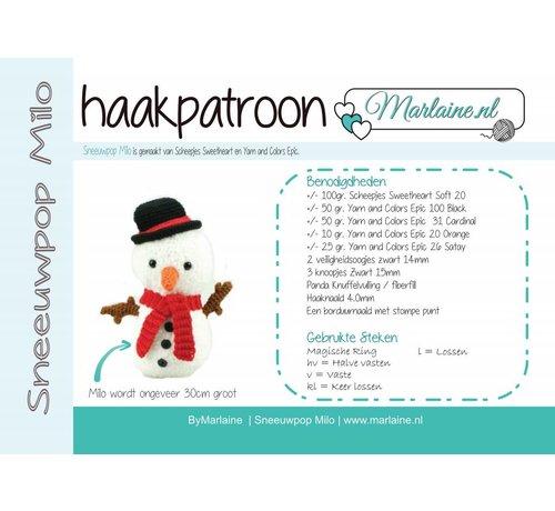 Marlaine Patroonboekje Sneeuwpop Milo